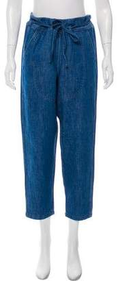 Ulla Johnson High-Rise Straight-Leg Jeans