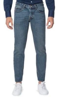 Eleventy Five-Pocket Selvedge Slim Straight Fit Jeans