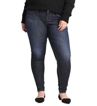 9bf031422173e Silver Jeans Co. Women s Plus Size Elyse Relaxed Fit Mid Rise Skinny
