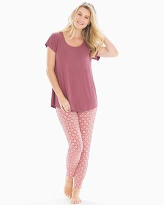 Mulberry Cool Nights Short Sleeve Pajama Set Novel Geo
