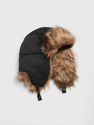 Gap Faux-Fur Trim Trapper Hat