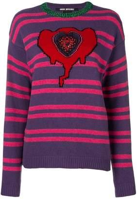 Pinko glittery detail striped jumper