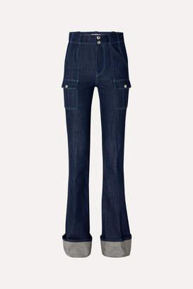 Chloé High-rise Bootcut Jeans - Dark denim