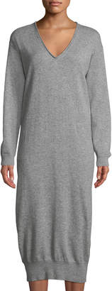Tomas Maier Cashmere V-Neck Long Sweaterdress