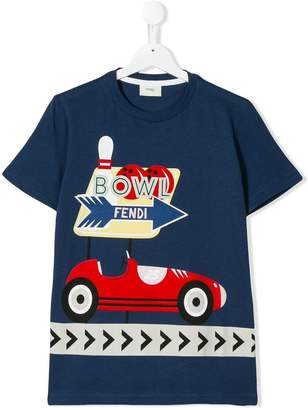 Fendi TEEN bowl print T-shirt