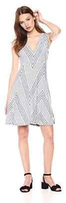 Max Studio Women's Knit End Stripe Dress