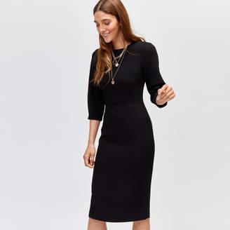 e628c1c7 at Warehouse · Warehouse Sleeve Tuck Midi Shift Dress