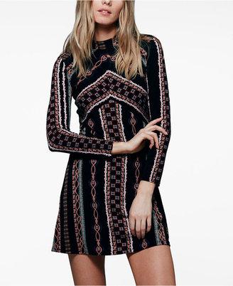 Free People Stella Printed Mini Dress $98 thestylecure.com