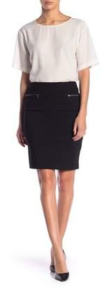 Leighton Zipper Pocket Pencil Skirt