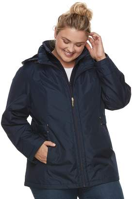 Details Plus Size Hooded Anorak Jacket