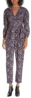 Rebecca Taylor Wrap Style Cotton Toile Jumpsuit