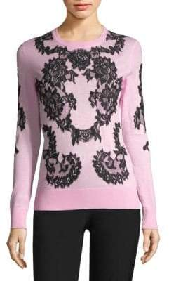 Dolce & Gabbana Lace Applique Knit