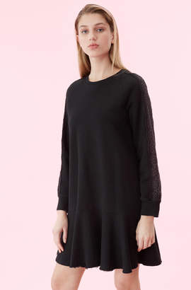 Rebecca Taylor La Vie Eyelet Fleece Dress