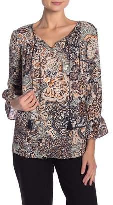 ZAC & RACHEL Floral Print Long Sleeve Blouse