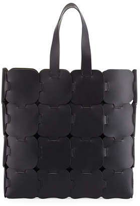 Paco Rabanne Cabas Large Leather Tote Bag
