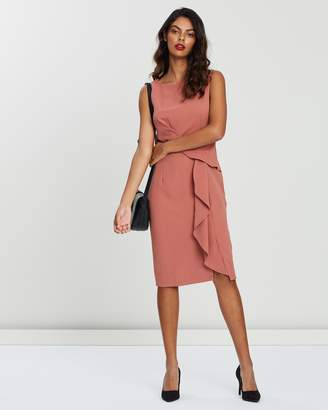 Forcast Kimberly Twist Front Dress