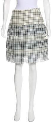 Lela Rose Plaid Knee-Length Skirt