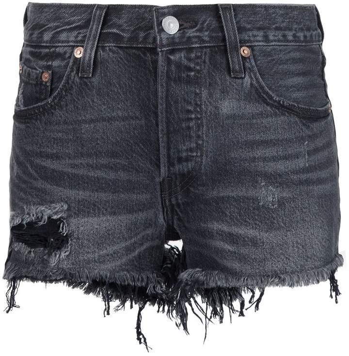 Ausgefranste Jeans-Shorts