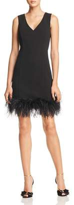 Eliza J Feather-Trimmed Dress - 100% Exclusive