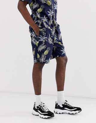 Fairplay Aal shorts with pineapple print in navy