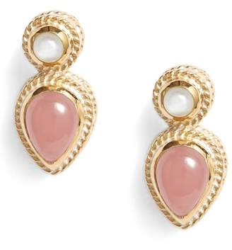 Anna Beck Guava Quartz & Moonstone Stud Earrings