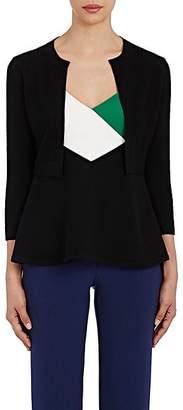 Lisa Perry Women's Merino-Wool-Cashmere Crop Cardigan - Black