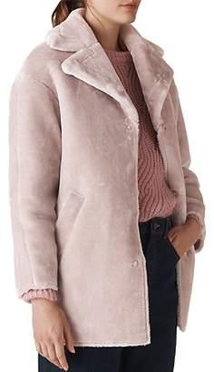 Whistles Faux-Fur Cocoon Coat