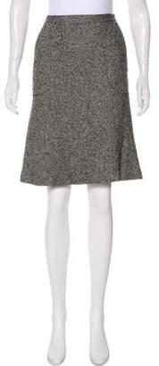 Magaschoni Wool-Blend Knee-Length Skirt