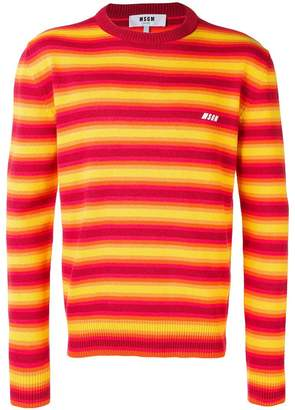 MSGM striped long sleeve T-shirt