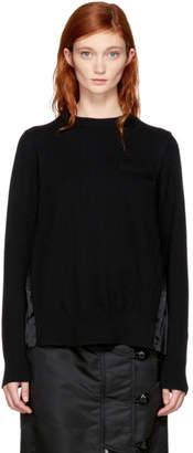 Sacai Black Classic Pleated Sweater