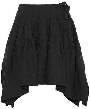 J.W.Anderson Pleated Linen Mini Skirt