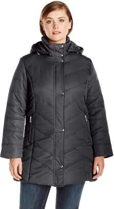 Big Chill Women's Plus-Size Mid Length Puffer Coat