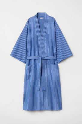H&M Striped Bathrobe - Bright blue/striped