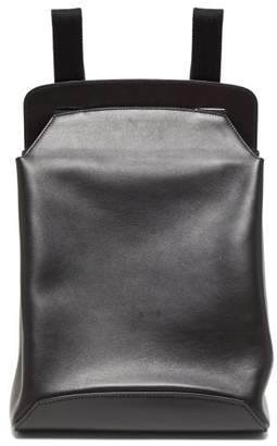 The Row Moulded Leather Backpack - Womens - Black