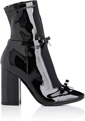 Philosophy di Lorenzo Serafini WOMEN'S BOW-EMBELLISHED PATENT LEATHER ANKLE BOOTS