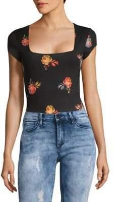 Free People Floral Printed Bodysuit