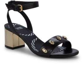 Class Roberto Cavalli Studded Block Heel Sandals
