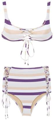 Amir Slama striped bikini set