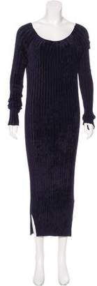 Helmut Lang Textured Rib Knit Dress