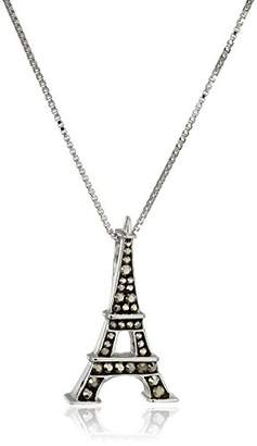 Swarovski Carnevale Sterling Silver Eiffel Tower Made with Elements Pendant Necklace