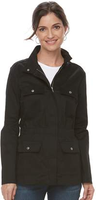 Croft & Barrow Women's Elastic Waist Utility Jacket