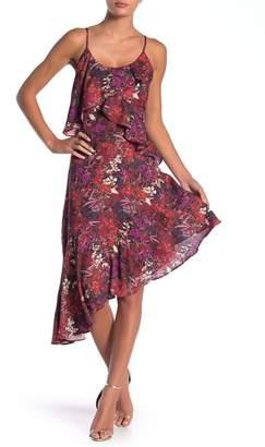 Adelyn Rae Francesca Floral Print Asymmetrical Dress
