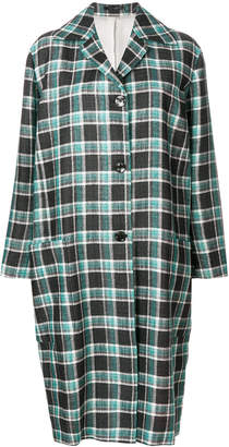 Paul Smith check cocoon coat