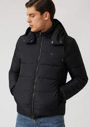 Emporio Armani Reversible Hooded Jacket With Knit Cuffs