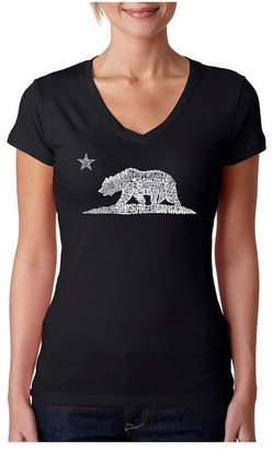 Yin & Yang La Pop Art Women Dolman Cut Word Art Shirt - Yin Yang