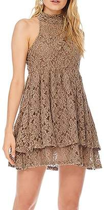Anama Lace High-Neck Dress