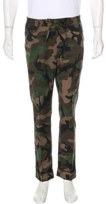 Valentino Wool Camouflage Print Pants