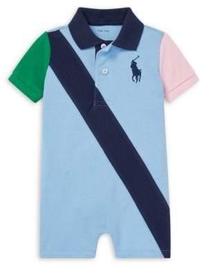 6c78ba9b6 Ralph Lauren Childrenswear Baby Boy s Colorblock Cotton Mesh Polo Shortalls