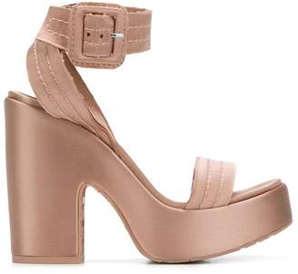 Pedro Garcia platform quilted strappy sandals