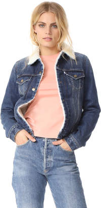 Kenzo Trucker Denim Jacket with Sherpa